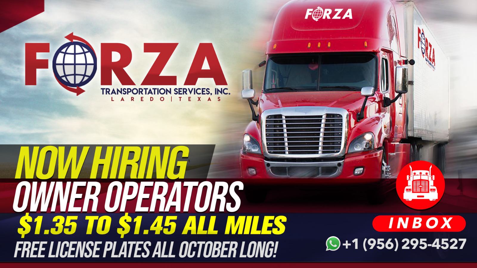 Now Hiring owner operators